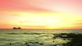 Deep burning sunset timelapse. Video of deep burning sunset timelapse stock video