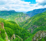 The deep canyon in Syunik Province Stock Images
