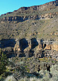 Deep in the Canyon. View in Crooked River Canyon at Crooked River Ranch - near Terrebonne, OR royalty free stock photo