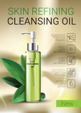 Deep Cleansing Oil ads. Royalty Free Stock Image