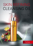 Deep Cleansing Oil ads. Stock Image