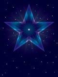 Star Shining Card_eps. Illustration of shining star card on blue background Royalty Free Stock Photo