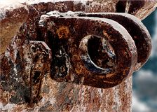 Deep corrosion. In old ship Royalty Free Stock Photos