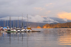Deep Cove Cloudy Sunset Royalty Free Stock Photography