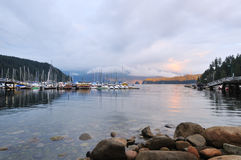 Deep Cove Cloudy Sunset Royalty Free Stock Photos