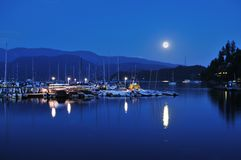 Deep Cove Full Moonrise Royalty Free Stock Photo