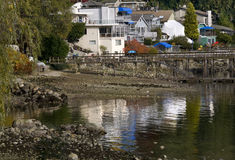 Deep Cove Reflections Harbor Vancouver BC Canada Royalty Free Stock Images