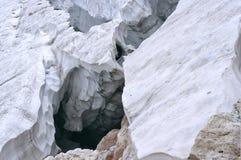 Deep crack in the glacier Stock Image