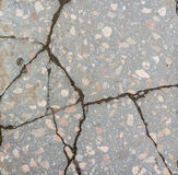 Deep cracks scratches in concrete Royalty Free Stock Photography