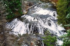 Deep Creek falls after the first snow Royalty Free Stock Photos