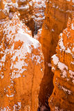 Deep Crevass Bryce Canyon National Park Rock Spires Royalty Free Stock Photos