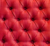 Deep Cushioned Red Fabric Upholstery Stock Photography
