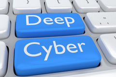 Deep Cyber concept Stock Image