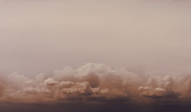 Deep dark clouds with copy space above Stock Photos