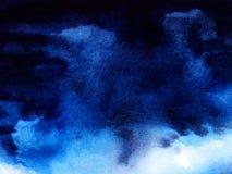 Free Deep Dark Night Sky Cumulus Cloud. Abstract Dark Blue Watercolor Background. Night Sky Gradient Dark To Light. Wet Ink Ombre. Hand Stock Photo - 160720890