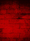 Deep Dark Red Brick Grunge Background Royalty Free Stock Images