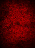 Deep Dark Red Brocade Leaf Background Stock Image