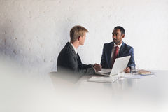 Deep in discussion in the boardroom Royalty Free Stock Photo