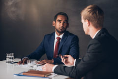 Deep in discussion in the boardroom Royalty Free Stock Photography