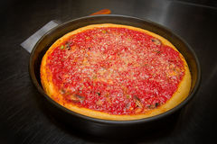 Deep Dish Chicago Style Pizza Oven Royalty Free Stock Photo