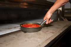 Deep Dish Chicago Style Pizza Oven Royalty Free Stock Image