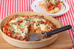 Deep Dish Pizza Stock Images