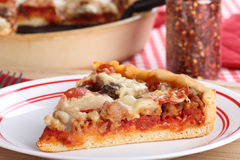 Deep Dish Pizza Slice Stock Photos