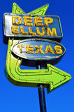 Deep elm texas sign Royalty Free Stock Photo