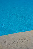 Deep end of the swimming pool Royalty Free Stock Photography