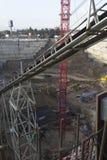 Deep excavation Stock Images