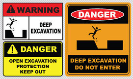Deep excavation sign Royalty Free Stock Photography