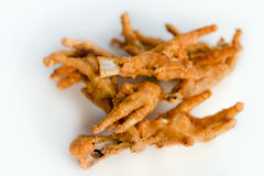 Deep fat fried chicken feet Royalty Free Stock Image