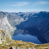 Deep fjord in norway Stock Photo