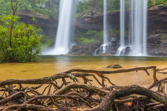 Deep Forest beautiful waterfall at Huai Luang Waterfall Royalty Free Stock Images