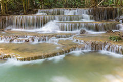 Deep forest blue stream waterfall in national park of Thailand Stock Photo