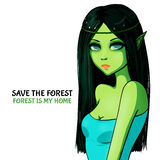 Deep forest elf Stock Image