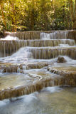 Deep forest stream waterfall in national park of Thailand, natural landscape background Royalty Free Stock Image