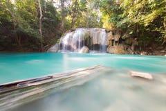 Deep forest water falls Stock Photos