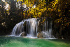 Deep forest waterfall Stock Photo