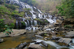 In the deep forest waterfall. On mountain at Mae ya waterfall National Park Stock Photos