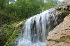 Deep forest waterfall autumn. Deep forest waterfall in autumn Royalty Free Stock Photos