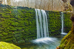 Deep forest Waterfall on Crazy Mary River, Belasitsa Mountain, Bulgaria Stock Image