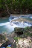 Deep forest waterfall at Erawan waterfall. National Park Kanjanaburi Thailand Stock Images