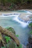 Deep forest waterfall at Erawan waterfall Royalty Free Stock Photo