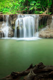 Deep forest waterfall in Huay Mae Kamin Kanjanaburi Thailand Stock Photo
