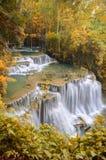 Deep forest Waterfall ,Huay Mae Khamin, Kanchanaburi ,Thailand Stock Photos