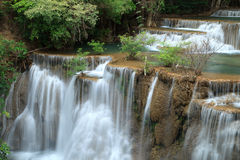 Deep Forest Waterfall In Kanchanaburi Royalty Free Stock Photo