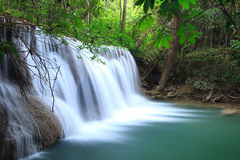 Deep forest Waterfall in Kanchanaburi Royalty Free Stock Photography