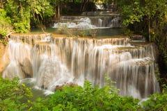 Deep forest waterfall, Kanchanaburi national park of Thailand Stock Image