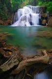 Deep forest Waterfall in Kanchanaburi, Thailand Stock Photos